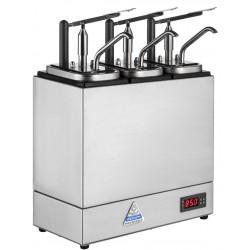 Bereila Bedum - Varm dispenser, Sylt/Sås, 3 pumpar, 3 kantiner